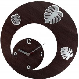 LEAFY CIRCLE AOEDWC013 DESIGNER WOODEN WALL CLOCK